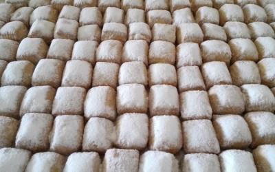 Mantecados blancos artesanales recien hechos - Productos Santa Gema
