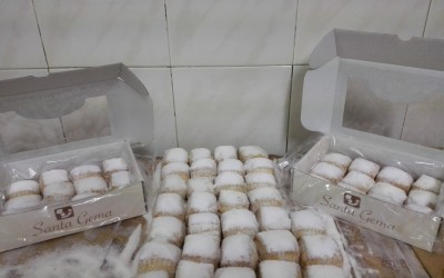 Mantecados blancos estuches y granel - Productos Santa Gema