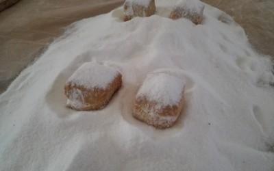 Mantecados blancos mojados en azucar - Productos Santa Gema