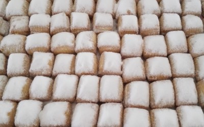 Mantecados blancos recien hechos - Productos Santa Gema