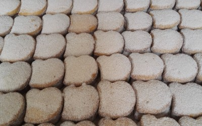 Mantecados morenos artesanales recien hechos - Productos Santa Gema