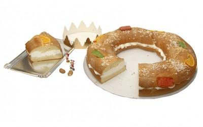 Roscón de Reyes (montaje) - Productos Santa Gema